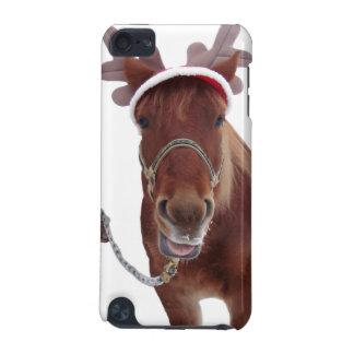 Coque iPod Touch 5G Cerfs communs de cheval - cheval de Noël - cheval