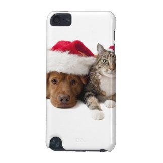 Coque iPod Touch 5G Chats et chiens - chat de Noël - chien de Noël