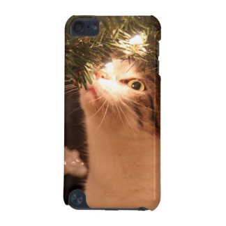 Coque iPod Touch 5G Chats et lumières - chat de Noël - arbre de Noël