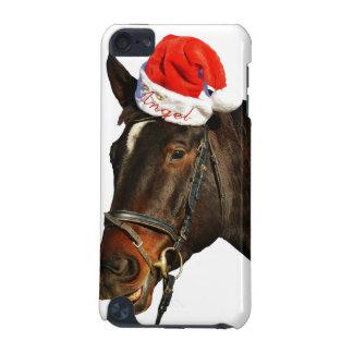 Coque iPod Touch 5G Cheval père Noël - cheval de Noël - Joyeux Noël