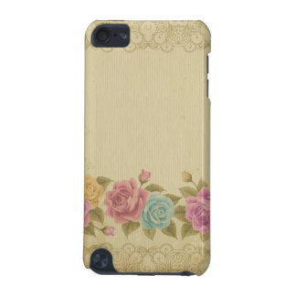 Coque iPod Touch 5G chic rustique et minable, floral, roses,