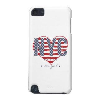 Coque iPod Touch 5G Coeur de drapeau américain de NYC