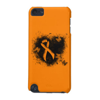 Coque iPod Touch 5G Coeur orange de grunge de ruban