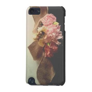 Coque iPod Touch 5G conception de fleurs d'iphone jolie de cadeau rose