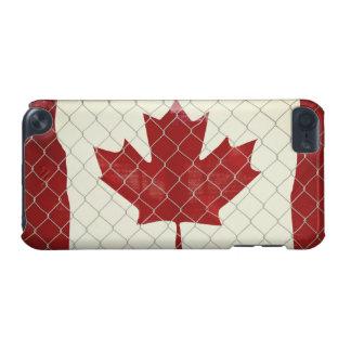 Coque iPod Touch 5G Drapeau canadien. Barrière de maillon de chaîne.