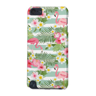 Coque iPod Touch 5G Flamants et rayures