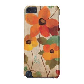 Coque iPod Touch 5G Fleurs colorées sur un arrière - plan blanc