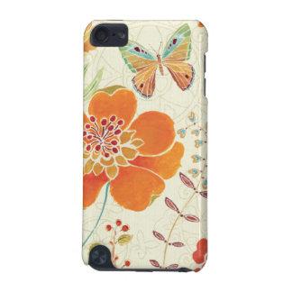 Coque iPod Touch 5G Fleurs et papillons colorés