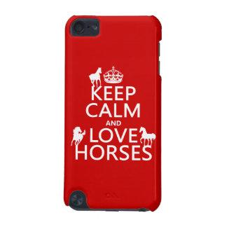 Coque iPod Touch 5G Gardez le calme et aimez les chevaux - toutes les