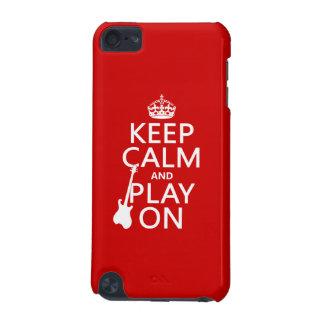 Coque iPod Touch 5G Gardez le calme et le jeu sur (guitare) (toute