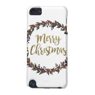 Coque iPod Touch 5G Guirlande d'aquarelle - Joyeux Noël - branches