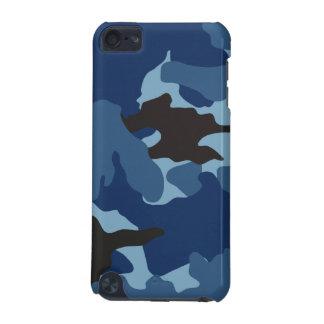 Coque iPod Touch 5G Les militaires bleus virils de Camo camouflent le