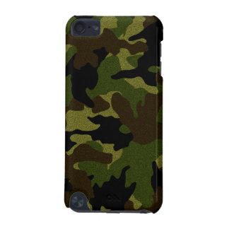 Coque iPod Touch 5G Les militaires de Camo de vert de tissu de Faux