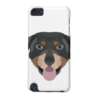 Coque iPod Touch 5G L'illustration poursuit le rottweiler de visage