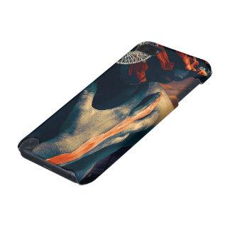 Coque iPod Touch 5G Madame peinte du coucher du soleil de désert