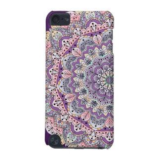 Coque iPod Touch 5G Mandala floral rose et pourpre mignon