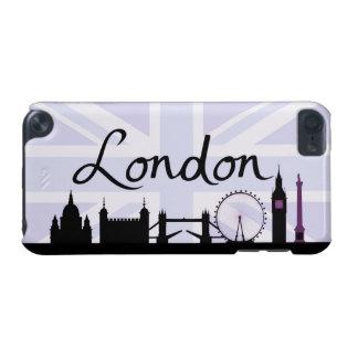 Coque iPod Touch 5G Manuscrit de Londres sur le ciel d'Union Jack et