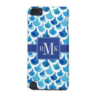Coque iPod Touch 5G Motif bleu d'échelle d'aquarelle