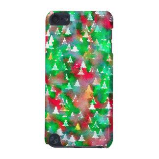 Coque iPod Touch 5G Motif d'aquarelle d'arbre de Noël