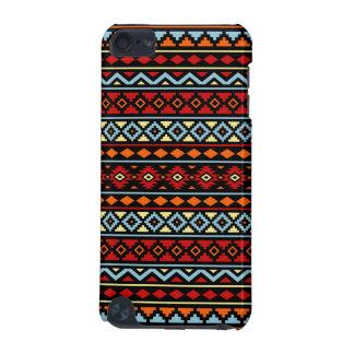 Coque iPod Touch 5G Noir bleu rouge aztèque de jaune orange de