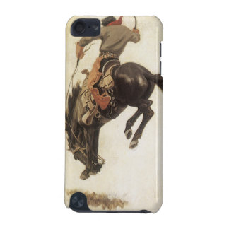 Coque iPod Touch 5G Occidental vintage, cowboy sur un cheval