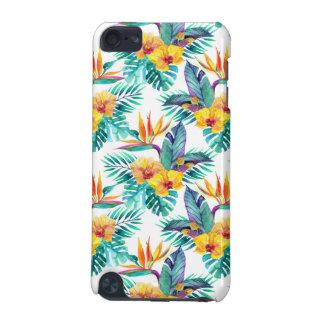 Coque iPod Touch 5G Oiseau du paradis et du motif d'orchidée