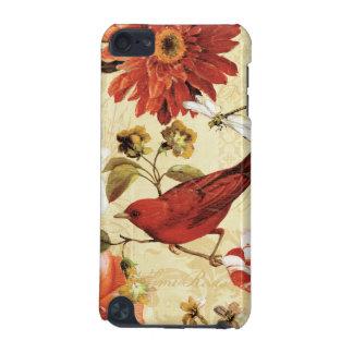 Coque iPod Touch 5G Oiseau rouge dans un jardin d'agrément