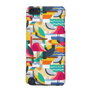 Coque iPod Touch 5G Oiseaux tropicaux géométriques