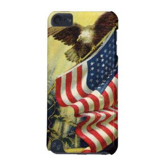 Coque iPod Touch 5G Patriotisme vintage, drapeau américain patriotique