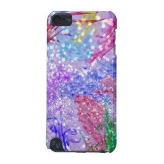Coque iPod Touch 5G Photo colorée pourpre de parties scintillantes