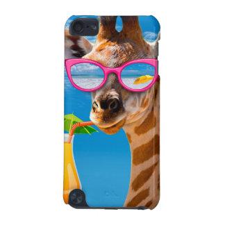 Coque iPod Touch 5G Plage de girafe - girafe drôle