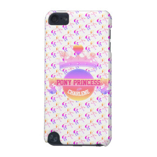 Coque iPod Touch 5G Princesse rose et pourpre de poney