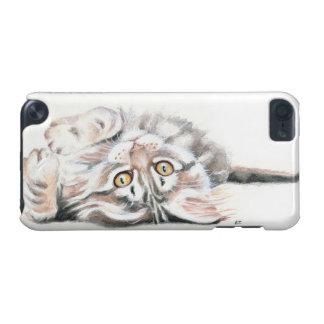 Coque iPod Touch 5G Ragondin mignon Kitty du Maine d'aquarelle