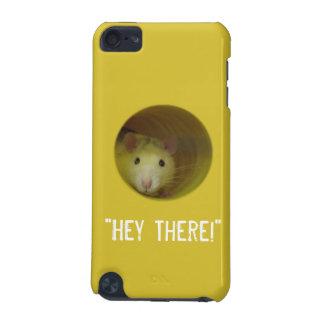 Coque iPod Touch 5G Rat mignon chez l'animal drôle de trou