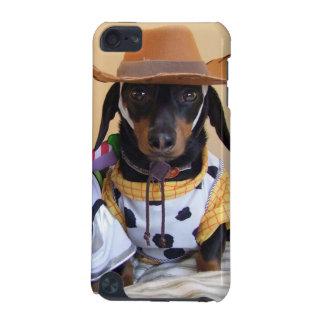 Coque iPod Touch 5G Teckel drôle - cowboy de chien