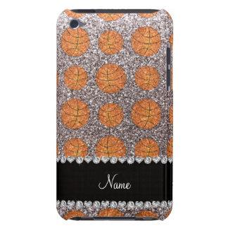 Coque iPod Touch Case-Mate Basket-balls argentés nommés personnalisés de