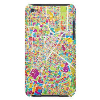 Coque iPod Touch Case-Mate Carte au néon de Houston, le Texas |