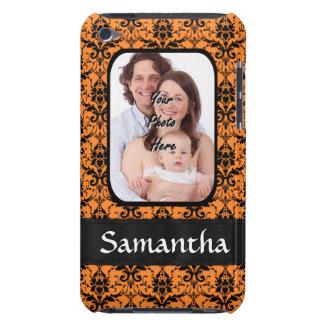 Coque iPod Touch Case-Mate Damassé orange et noire