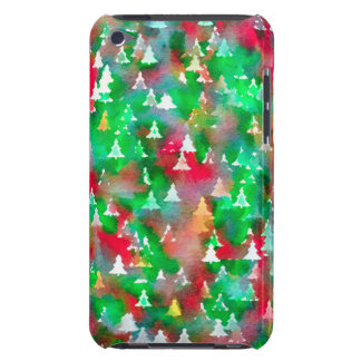 Coque iPod Touch Case-Mate Motif d'aquarelle d'arbre de Noël