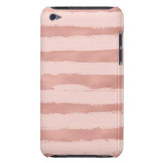 Coque iPod Touch Case-Mate Rayures peintes à la main métalliques d'or rose