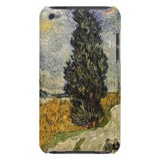 Coque iPod Touch Case-Mate Route de Vincent van Gogh   avec des cyprès, 1890