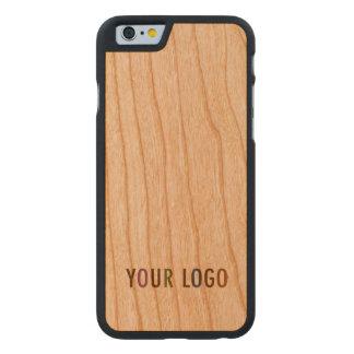 Coque Mince En Cerisier iPhone 6 logo de l'iPhone 6 6s Cherry Wood Case Custom