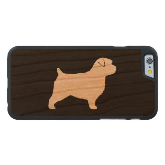 Coque Mince En Cerisier iPhone 6 Silhouette de Norfolk Terrier