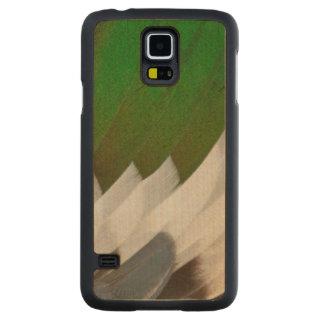 Coque Mince En Érable Galaxy S5 Abrégé sur coloré plume de canard