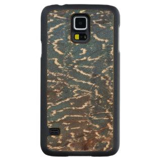 Coque Mince En Érable Galaxy S5 Abrégé sur noir plume de faisan