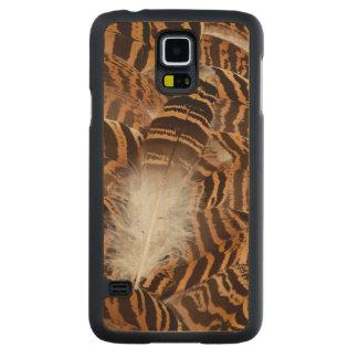 Coque Mince En Érable Galaxy S5 Abrégé sur plume de Brown Stripepd