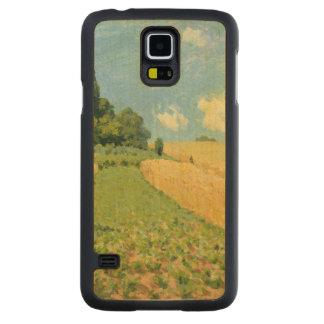 Coque Mince En Érable Galaxy S5 Alfred Sisley | le champ de maïs
