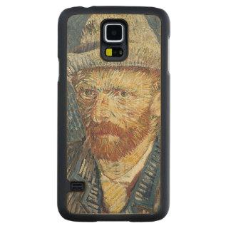 Coque Mince En Érable Galaxy S5 Autoportrait de Vincent van Gogh | avec le chapeau
