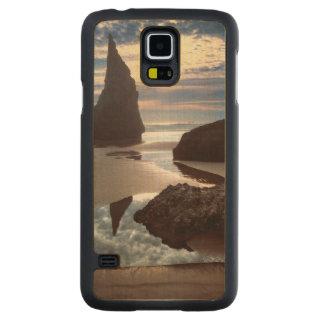 Coque Mince En Érable Galaxy S5 Bord de la route Épine-Formé de roche de visage du