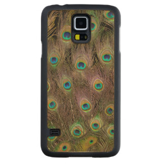Coque Mince En Érable Galaxy S5 Champ des plumes de paon